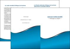 faire modele a imprimer depliant 2 volets  4 pages  bleu bleu pastel fond bleu MIF59392