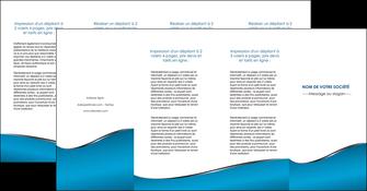realiser depliant 4 volets  8 pages  bleu bleu pastel fond bleu MIF59400