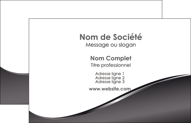 creation graphique en ligne carte de visite web design gris fond gris noir MIS59404
