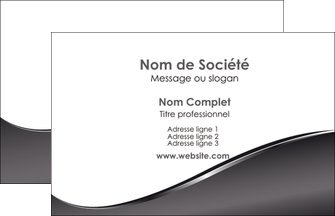 creation graphique en ligne carte de visite web design gris fond gris noir MIF59404