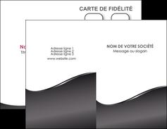 personnaliser maquette carte de visite web design gris fond gris noir MLIG59414