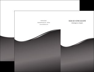modele pochette a rabat web design gris fond gris noir MIF59416