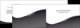 exemple depliant 2 volets  4 pages  web design gris fond gris noir MLGI59420