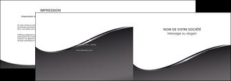modele depliant 2 volets  4 pages  web design gris fond gris noir MLIG59422