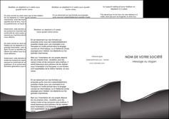cree depliant 3 volets  6 pages  web design gris fond gris noir MLGI59430
