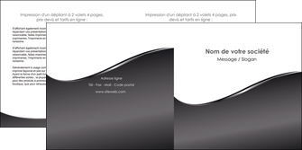 creation graphique en ligne depliant 2 volets  4 pages  web design gris fond gris noir MIF59434