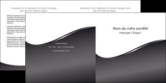 creation graphique en ligne depliant 2 volets  4 pages  web design gris fond gris noir MLGI59434