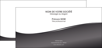 cree carte de correspondance web design gris fond gris noir MIF59442