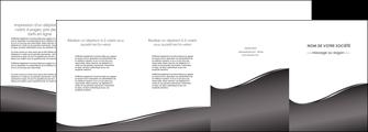 imprimer depliant 4 volets  8 pages  web design gris fond gris noir MLIG59448