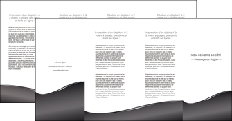 creation graphique en ligne depliant 4 volets  8 pages  web design gris fond gris noir MIF59452