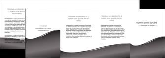 personnaliser maquette depliant 4 volets  8 pages  web design gris fond gris noir MLGI59454