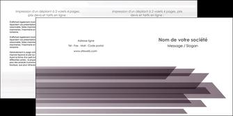cree depliant 2 volets  4 pages  web design gris fond gris simple MIF59486