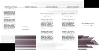 faire modele a imprimer depliant 4 volets  8 pages  web design gris fond gris simple MIF59504