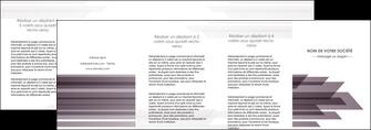 cree depliant 4 volets  8 pages  web design gris fond gris simple MIF59506