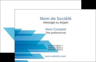modele en ligne carte de visite bleu couleurs froides trait MLIG59578