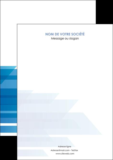 personnaliser maquette flyers bleu couleurs froides trait MLGI59580