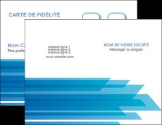 personnaliser maquette carte de visite bleu couleurs froides trait MLGI59588