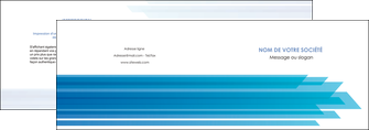 creation graphique en ligne depliant 2 volets  4 pages  bleu couleurs froides trait MLGI59594