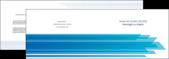 personnaliser modele de depliant 2 volets  4 pages  bleu couleurs froides trait MLIG59596