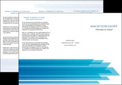 creer modele en ligne depliant 3 volets  6 pages  bleu couleurs froides trait MLIG59604