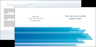faire modele a imprimer depliant 2 volets  4 pages  bleu couleurs froides trait MLIG59608