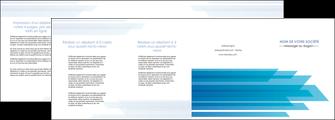 cree depliant 4 volets  8 pages  bleu couleurs froides trait MLIG59622