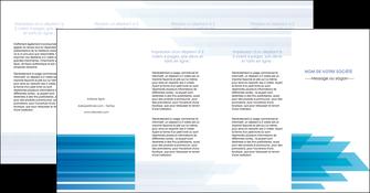maquette en ligne a personnaliser depliant 4 volets  8 pages  bleu couleurs froides trait MLIG59626