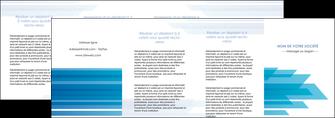 modele en ligne depliant 4 volets  8 pages  bleu couleurs froides trait MLGI59628