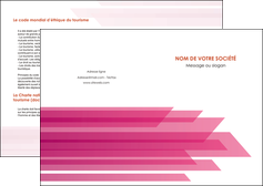 faire modele a imprimer depliant 2 volets  4 pages  rose fond rose trait MLGI59646