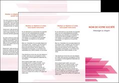 maquette en ligne a personnaliser depliant 3 volets  6 pages  rose fond rose trait MLGI59666