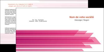 imprimer depliant 2 volets  4 pages  rose fond rose trait MLGI59670