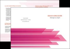 creation graphique en ligne depliant 2 volets  4 pages  rose fond rose trait MLGI59680