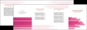 faire depliant 4 volets  8 pages  rose fond rose trait MLGI59682