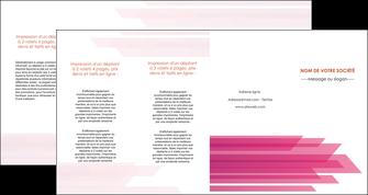 modele depliant 4 volets  8 pages  rose fond rose trait MLGI59686