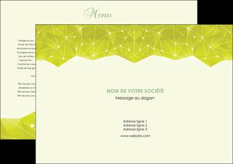 creer modele en ligne set de table graphisme vert fond vert colore MIF60034
