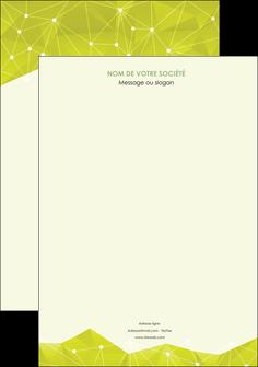 personnaliser modele de affiche graphisme vert fond vert colore MIF60038