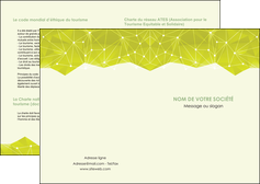 imprimer depliant 2 volets  4 pages  graphisme vert fond vert colore MIF60040