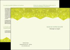 imprimer depliant 2 volets  4 pages  graphisme vert fond vert colore MLGI60040