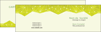 realiser carte de visite graphisme vert fond vert colore MLGI60042