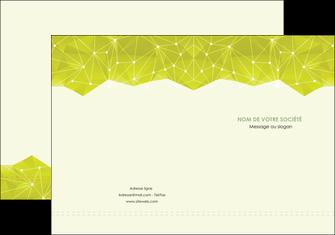 creer modele en ligne pochette a rabat graphisme vert fond vert colore MIF60046