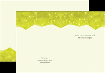 faire modele a imprimer pochette a rabat graphisme vert fond vert colore MIF60048