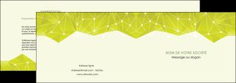 modele en ligne depliant 2 volets  4 pages  graphisme vert fond vert colore MIF60050