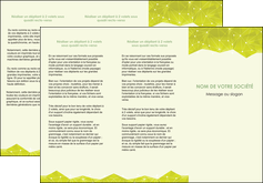 modele depliant 3 volets  6 pages  graphisme vert fond vert colore MLGI60060
