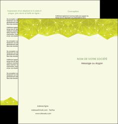 personnaliser maquette depliant 2 volets  4 pages  graphisme vert fond vert colore MIF60062