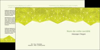 personnaliser modele de depliant 2 volets  4 pages  graphisme vert fond vert colore MIF60064