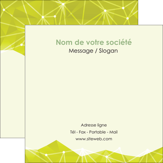 imprimer flyers graphisme vert fond vert colore MIF60068