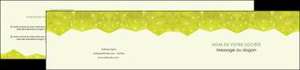 modele depliant 2 volets  4 pages  graphisme vert fond vert colore MIF60070