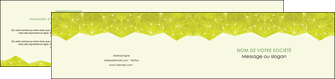 modele depliant 2 volets  4 pages  graphisme vert fond vert colore MLIGBE60070
