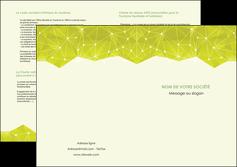 personnaliser modele de depliant 2 volets  4 pages  graphisme vert fond vert colore MIF60074
