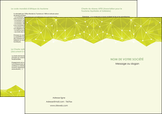 personnaliser modele de depliant 2 volets  4 pages  graphisme vert fond vert colore MLIGBE60074